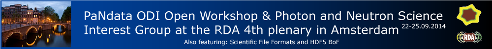 PaNdata ODI Open Workshop co-located with RDA 4th plenary in Amsterdam